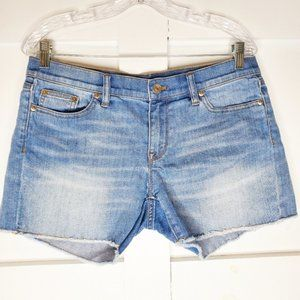 "J. Crew Indigo Denim Cut off Blue 4"" Jean Shorts"